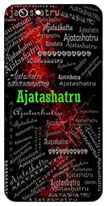 Ajatashatru (A Name Of Vishnu) Name & Sign Printed All over customize & Personalized!! Protective back cover for your Smart Phone : Moto G-4-PLAY