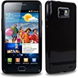 CNL HIGH GLOSS BLACK HYDRO GEL CASE WITH TIGERBOX SCREEN PROTECTOR FOR SAMSUNG GALAXY S2 / SII i9100 MOBILE PHONEby CNL