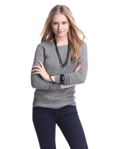Cashmere Addiction Women's Long Sleeve Crew Neck Sweater