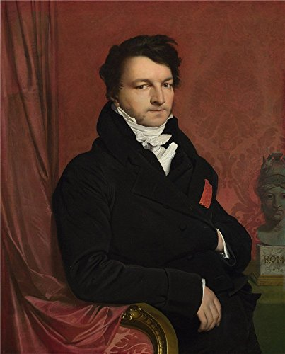 The High Quality Polyster Canvas Of Oil Painting 'Jean Auguste Dominique Ingres Monsieur De Norvins ' ,size: 10 X 12 Inch / 25 X 32 Cm ,this Replica Art DecorativePrints On Canvas Is Fit For Laundry Room Gallery Art And Home Decor And Gifts