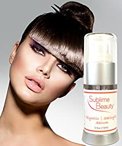 Sublime Beauty GLYCOLIC SALICYLIC SERUM, 0.5 oz. Anti Aging Serum Exfoliates + Closes Pores + Enlivens Skin. For Either Aging or Oily Skin (Prevents & Kills Blemishes). 100% Moneyback Guarantee. made by Sublime Beauty®