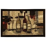 Mohawk Home New Wave Wine And Glasses Printed Rug, 2'6x3'10, Brown