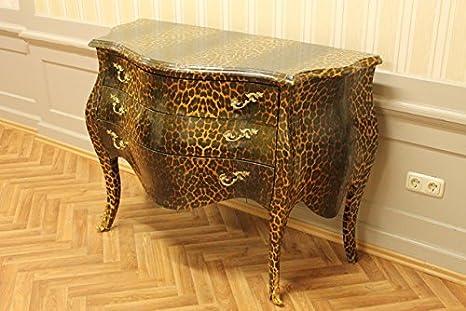 Chest of Drawers Antique Baroque style ShabbyChic AlKM1023BLeoGO-A