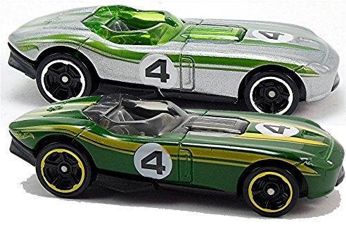 Hot Wheels 2014 Rrroadster #155/250 Green & Silver Set - 1