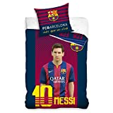 FC Barcelona Messi Single Duvet Cover and Pillowcase Set
