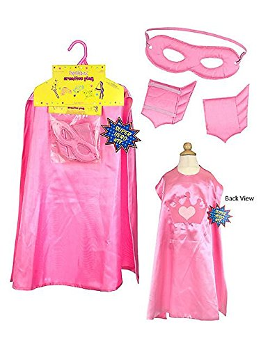 Pink Super Hero Cape Set Costume for Kids