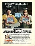 Vintage IHOP Magazine Ad- International House of Pancakes- Jim Plunkett