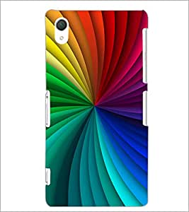 PrintDhaba Rainbow Colours D-2060 Back Case Cover for SONY XPERIA Z2 (Multi-Coloured)