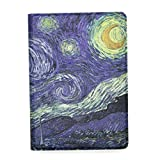 JMM - The Starry Night Vincent van Gogh Painting Design PU Leather Protection Cover Case with Card Slot for Amazon Kindle Paperwhite (Both 2012 and 2013 versions with 6 Display and Built-in Light) Support Smart Cover Function