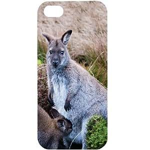 Casotec Kangaroo Design Hard Back Case Cover for Apple iPhone 5 / 5S