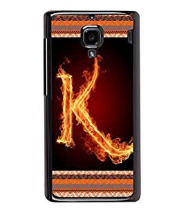 Printvisa 2D Printed Alphabet K Designer back case cover for Xiaomi Redmi 1S - D4200