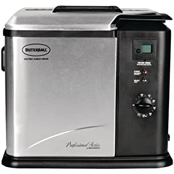 14-LB CAPACITY; DIGITAL TIMER; POWER/READY INDICATOR LIGHTS; ADJUSTABLE THERMOSTAT CONTROL; STORAGE COMPARTMENT FOR CORD; FOLD-AWAY LID WITH VIEWING WINDOW AND BUILT-IN FILTER; COOKING BASKET WITH DRAIN CLIP; STAINLESS-STEEL HOUSING; PORCELAIN-COATED...
