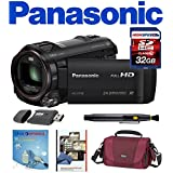 Panasonic HC-V750K Enhanced Sound Full HD Wi-Fi Enabled 20X Camcorder with 3-Inch LCD (Black) w/ Deluxe Kit 32GB
