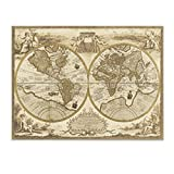 レトロ 世界地図 ウォールステッカー デカール ホーム デコレーション リムーバブル 壁紙 壁画 DIY インテリア