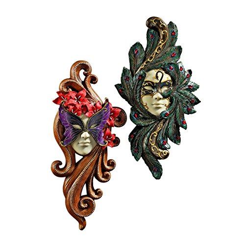 Design Toscano 2-Piece Masquerade at Carnivale Countess Mask Wall Sculpture Set