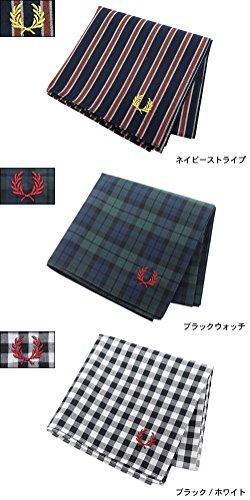 (フレッドペリー) FRED PERRY ハンカチ メンズ ハンカチーフ 日本企画(FREDPERRY F9912 Handkerchief) ワンサイズ ネイビーストライプ