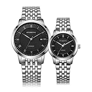 Starking Men's & Women's AM/L0187 Classica Sapphire Couple's Automatic Watches