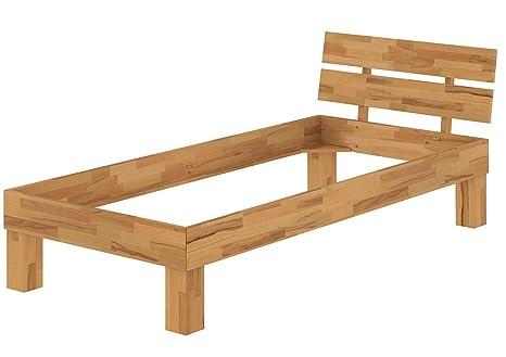Solido telaio letto/futon 100x200 in Rovere Eco laccato 60.88-10 oR