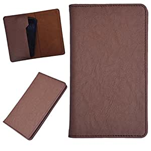 DCR Pu Leather case cover for Videocon A10 (brown)