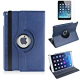 #8: G4GADGET® Premium Quality NavyBlue Horizontal & Vertical View Leather Cover For Apple iPad Air