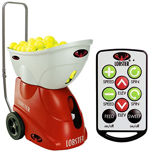 Lobster Elite Three Tennis Ball Machine bundled with 10-Function Elite Wireless Remote Control (Lobster Elite Remote compare prices)