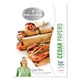 Fire & Flavor Fire & Flavor 6 x 7.25 Inch Western Red Cedar Wraps (8 Papers), 2 Ounce Package