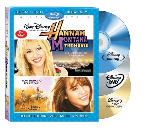 Cover art for  Hannah Montana: The Movie (Three-Disc Blu-ray/DVD Combo + Digital Copy) [Blu-ray]