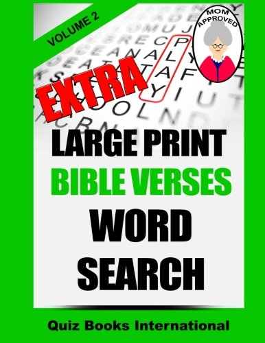 Extra Large Print Bible Verses Word Search Vol. 2 PDF