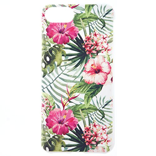 CaseBee Flower Series - Fresh And Vibrant Floral Flowers Print iPhone 7 (4.7) Case - Perfect Gift (Amazon Tropical Forest Floral Pattern)