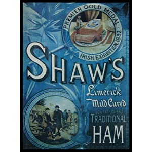 Shaws Ham - Vintage Advertising - Large Metal Wall Sign
