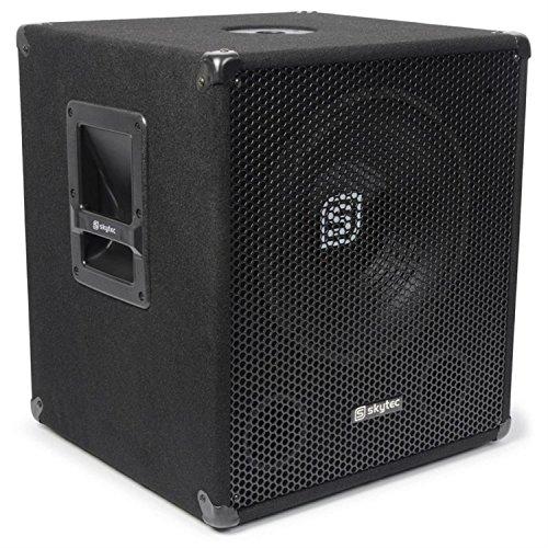 SkyTec-SMWBA18-aktiver-PA-Subwoofer-46-cm-18-Tieftner-Bi-Amp-1000-Watt-max-PA-Box-2-Band-Equalizer-Mikrofonsektion-mit-separatem-Lautstrkeregler-regelbarem-Echo-Effekt-Bassreflexgehuse-mit-Filzbezug-M