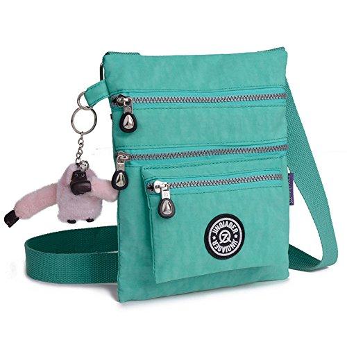 New Fashion Lady Handbag Shoulder Bag Tote Purse Nylon Women Messenger Hobo Bag (Green)