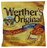 Werthers Original Hard Candy, Caramel Sugar Free, 2.75-Ounce Bags (Pack of 12)