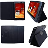 HappyZone - (Black) Portfolio Leather Case Cover with Built In Stand for Acer Iconia A100 7-Inch Tablet