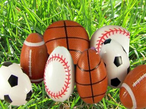 Plastic Sport Ball Easter Eggs Party Accessory