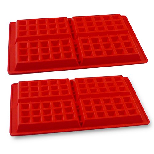 PROINTxp Silicone Waffle Mould, Bakeware Set Nonstick Silicone Baking Mold Set making for 8 Waffles in a Single Batch