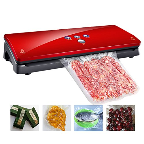 Gerowa Automatic Vacuum Sealer, Dry&Moist Food Vacuum Sealing Preservation Packing Machine System with 10 Reusable Food Vacuum Sealer Bags for Home, Kitchen, Restaurant and Industrial Use (Red) (Food Dry Freezer compare prices)
