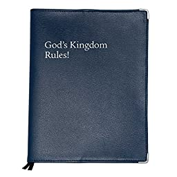 Leatherette cover for \'God\'s Kingdom Rules\' Congregation Bible study - no zipper - Navy Leatherette