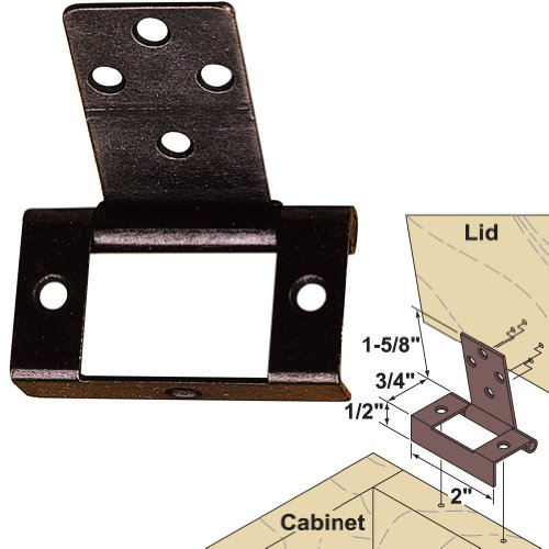 Platte River 141548, Hardware, Hinges, Surface Mounted, Non-Mortise Lid Hinge Dark Bronze (Hinges For Toy Box compare prices)
