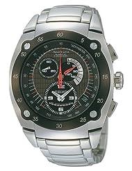 Seiko Men's SNL043 Sportura Kinetic Chronograph Stainless Steel Watch