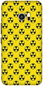 The Racoon Grip Radioactive hard plastic printed back case / cover for HTC 10