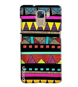 Omnam Colors Pattern Printed Designer Back Case Hauwei Honor 7