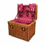 Picnic Time Chardonnay Basket with Wine Service for Two