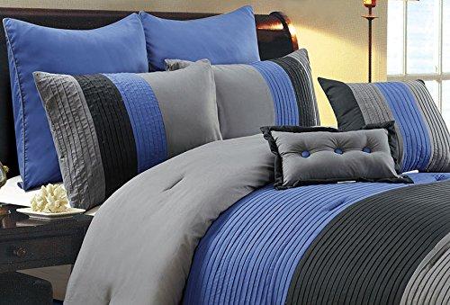 Navy Blue Queen Bedding: 8 Piece Luxury Bedding Regatta Comforter Set Navy Blue