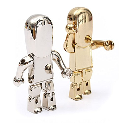 Gold 4GB USB 2.0 Metal Robot Model Flash Drive Memory Storage Pen U Disk by 24/7 store