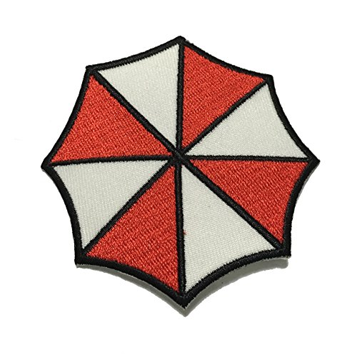 Resident Evil Umbrella Patch Stars Corporation Medium Size Embroidered Sew Iron On Patch - APPLIQUE EMBROIDERED - Clothing Shirts Pants Novelty Iron on with heat or sew on - Decorate Bags Caps Towels - Safe Non-toxic - 100% (Cheer Bows One Direction compare prices)