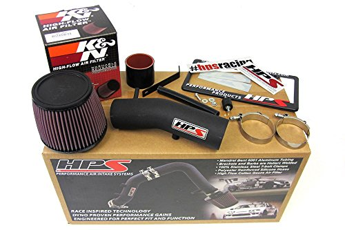 03-07 Honda Accord 3.0L V6 HPS Black Shortram Air Intake Kit + K&N Filter Short Ram Cool