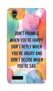 AMEZ dont promise when you are happy Back Cover For Lenovo A3900