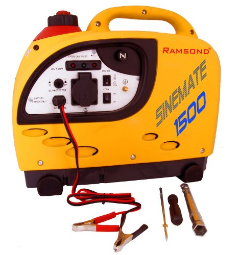 Ramsond Sinemate 1500 Watt 1500 W Pure Sine Wave Portable Inverter Gasoline Gas Power Generator RV Camper Boat Marine Backup
