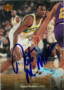 Nate McMillan Autographed Hand Signed Basketball Card (Seattle Sonics) 1995 Upper... by Hall of Fame Memorabilia